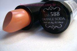 NYX ROUND LIPSTICK - ORANGE SODA (588) - NUDE PEACH - BN