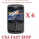 6 units Clear Screen Protector Cover For Blackberry Bold 9700 9780 Onyx