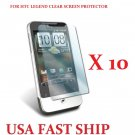 10 units HTC Legend Clear Screen Protector Guard LCD Cover.