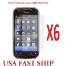 6 units HTC Mytouch 4g  Clear Screen Protector Guard LCD Cover.