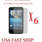 6 units HTC Inspire  Clear Screen Protector Guard LCD Cover.