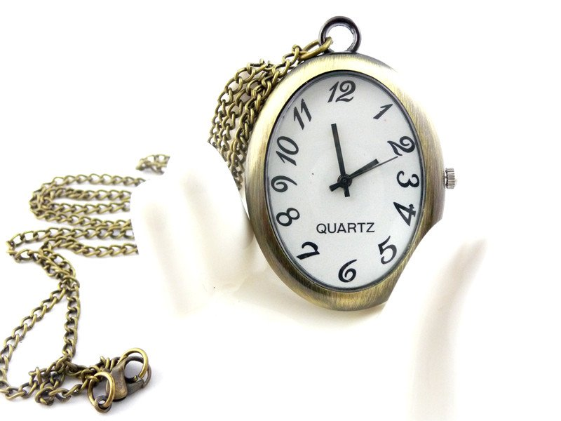 Egg pocket watch necklace