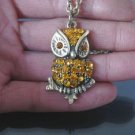 Swarovski Crystal Owl Necklace BZ12