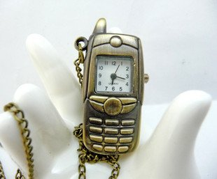 Mobile phone pocket watch necklace