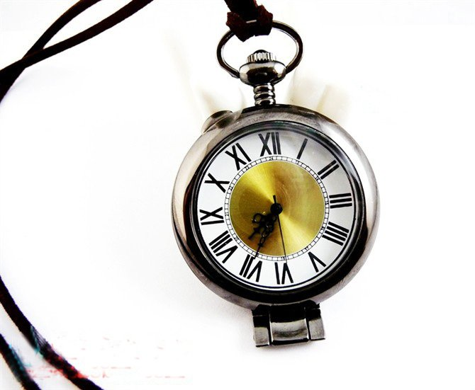 Magnifying glass, pocket watch necklace round section