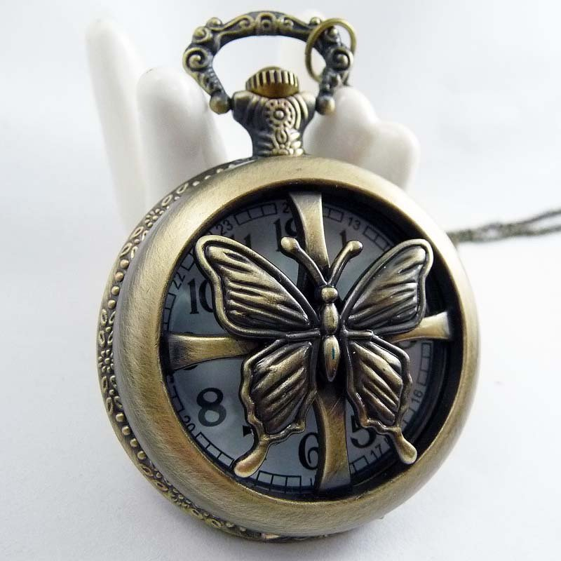Butterfly Necklace pocket watch BZ28