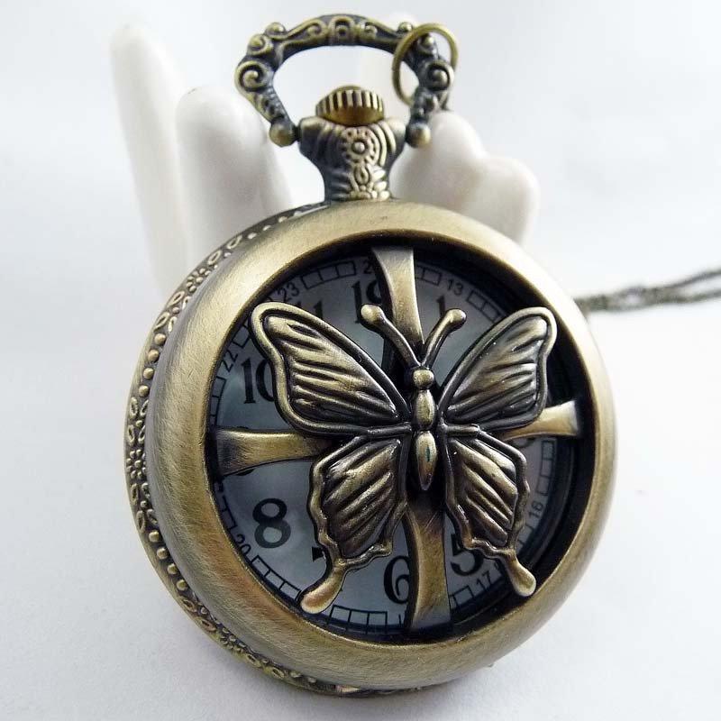 Butterfly Necklace pocket watch BZ28