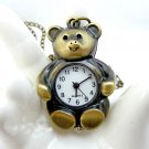 Panda pocket watch necklace