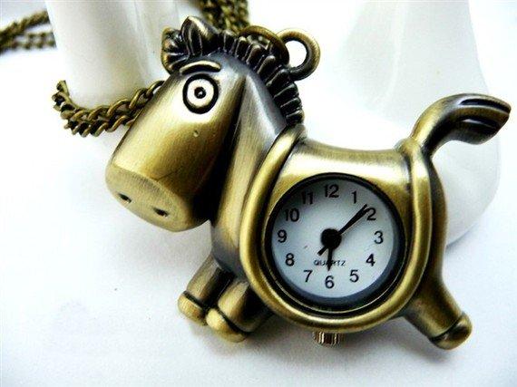 Colt pocket watch necklace