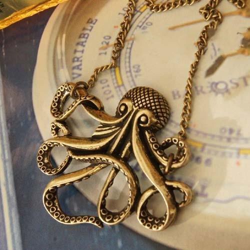 Retro Octopus necklace