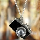 Retro style camera necklace, Black