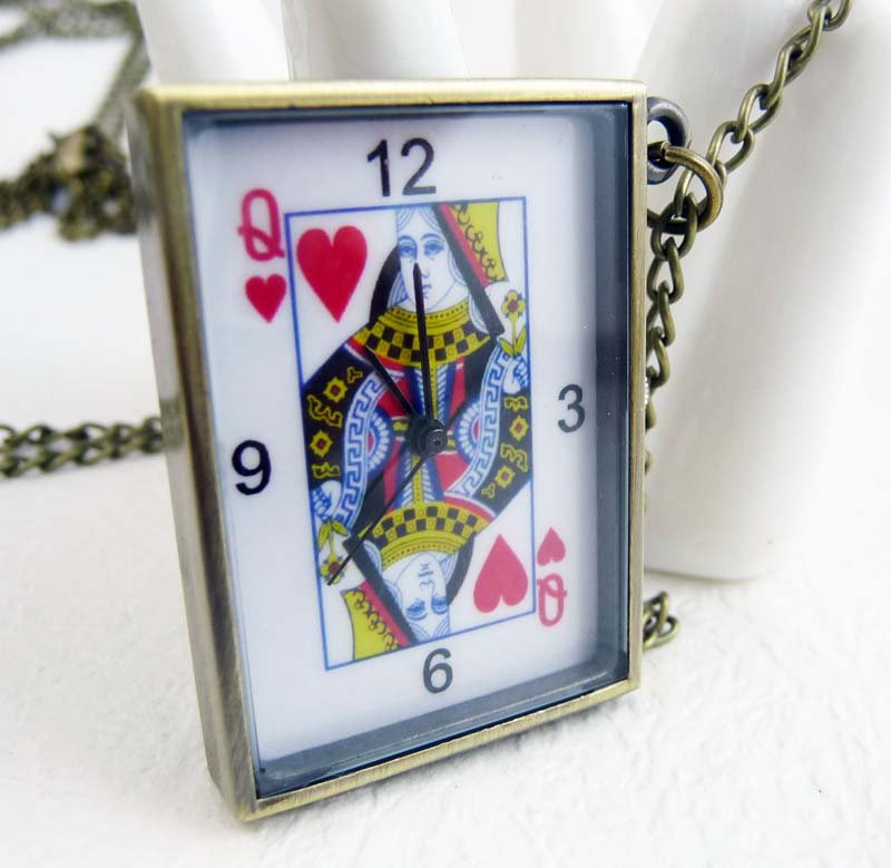 Poker pocket watch necklace BZ81