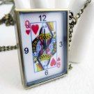 Poker pocket watch necklace BZ81
