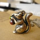 Cute little squirrel necklace