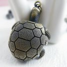 Retro Sea turtle pocket watch necklace