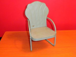 50's Miniature Metal Porch Chair