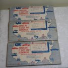 3 - Travel Packets with Maps American Oil, Gulf, Esso