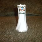 Nippon Hat Pin - Vase Fluted Design Flowers/Gold Trim