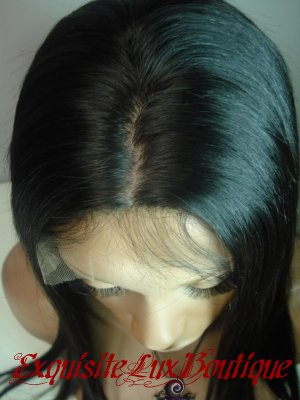 "Silky Straight Silk Top Full Lace Wig 12"" Color- #1b"