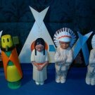 St. Labre School Vintage Plastic Toys/Figurines  Set