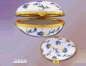 NEW Porcelain Flower Print Egg Box