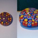 NEW Glass Patchwork Flowers Design Paperweight-Pretty