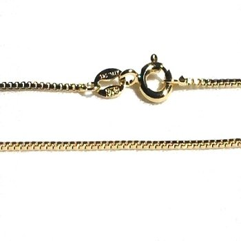 925 Sterling Silver Vermeil 20 Inch 1.2 mm Box Neck Chain Necklace
