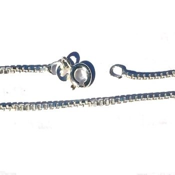 925 Sterling Silver 24 Inch 1.4mm wide Box Neck Chain Necklace