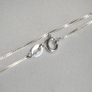 Sterling Silver box 18 inch 1 mm Neckchain