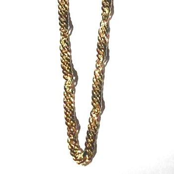 Gold Plate over Sterling Silver Vermeil 20 Inch twisted Neck Chain