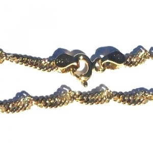 Sterling Silver Vermeil 18 Inch twisted Neck Chain