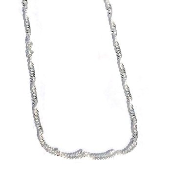 Sterling Silver 18 inch 2.5mm Twisted Neck Chain