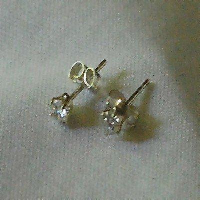 Sterling Silver CZ Cubic Zirconia 3mm Stud Earrings