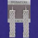 Sterling Silver Long Linked Dangle Earring