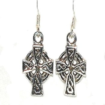 Sterling Silver Celtic Filigree Cross Dangle Earring