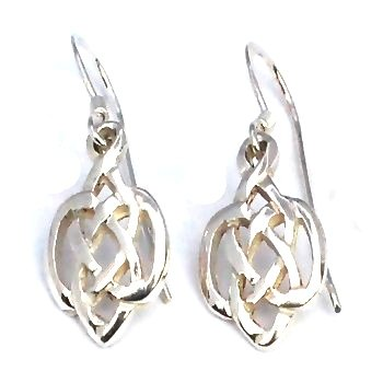 Sterling Silver Celtic knot Filigree Earring Dangles
