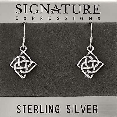 Sterling Silver Celtic Knot Dangle Earring