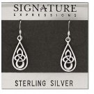 Sterling Silver Celtic Triquetra Drop Earrings