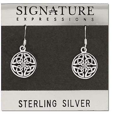 Sterling Silver Celtic Knot Filigree Dangle Earring