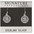 Sterling Silver Celtic Knot Filigree Dangle Earring