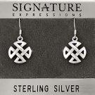 Sterling Silver Celtic Knot Filigree Cross Dangle Earring