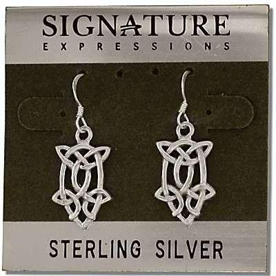 Sterling Silver Celtic Filigree Knotted Teardrop Dangle Earrings