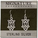 Sterling Silver Celtic Filigree Knotted Teardrop Dangle Earrings