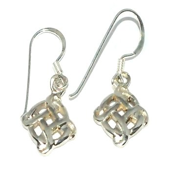 Sterling Silver Celtic Bowen Cross Knotted Circle Earrings