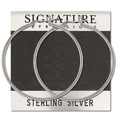 Sterling Silver Italian Catch Pin Catch Hoop Earrings
