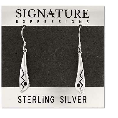 Sterling Silver Ligthning Bolt Drop Dangle Earring