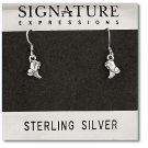 Sterling Silver Boots Dangle Earrings