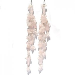 Sterling Silver Rainbow Moonstone Long Dangle Earrings