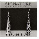 Sterling Silver Antique Filigree Cone Dangle Earrings