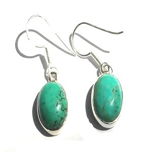 Sterling Silver Turquoise Dangle Earring